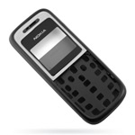 Корпус для Nokia 1200 - 1208 Black - High Copy