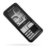 Корпус для Sony Ericsson G502 Black - High Copy